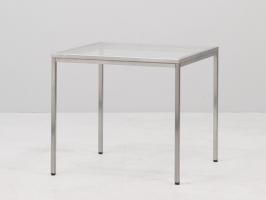 esstisch glas 80x80 eventwide wien mietm bel mietmobiliar eventm bel messem bel mietbar. Black Bedroom Furniture Sets. Home Design Ideas